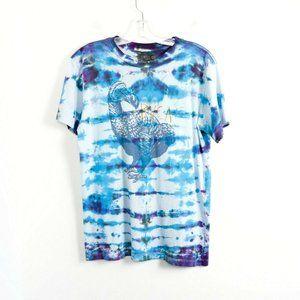 Dodo graphic tee bird tie-dye t-shirt men's S art